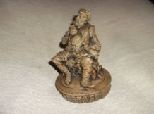 COLLECTABLE DETAILED RESIN FIGURINE FALSTAFF VERY DETAILED AGED LOOK 5.5""